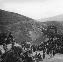 13 de marzo de 1899.- Inauguración del viaducto del Salado y de la línea Linares-Almería. Fuente: colección Cerdá y Rico.