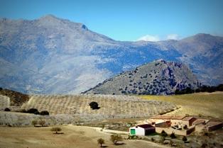 Vista de Sierra Mágina desde el Buitre