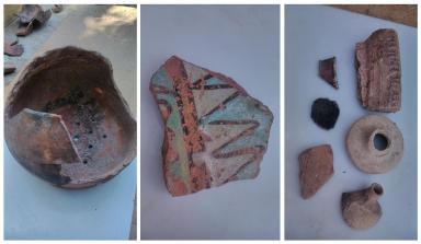Cerámica encontrada en el cerro San Juan