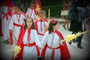 Niños de la hermandad de la Borriquilla. Fuente: propia.