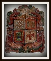 Escudo de la capilla de Palomino de Ledesma. Fuente: propia.