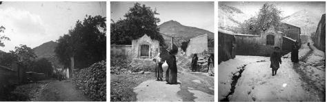 Estado de la calle Santa Ana (alta) a principios de siglo XX. Fuente: colección Cerdá y Rico.