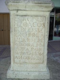 Texto de la cruz de Serón. Fuente: propia.