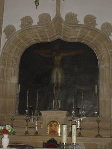 Úbeda, Cristo de Burgos en ubicación original de la iglesia de San Pedro hoy en Santa María). Fuente: propia.