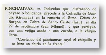 """Voz """"Pinchauvas"""" del diccionario de Alcalá Venceslada"""