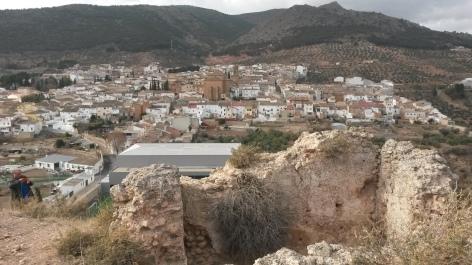 Panorámica de Cabra desde las ruinas del castillo. Fuente: propia.