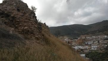 Castillo de Cabra. Restos del torreón Nor-Este. Fuente: propia.