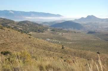 Vistas de la sierra de Cazorla y peña del Cambrón