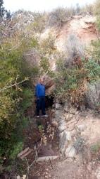 Boca de la mina de agua de la Viñuela