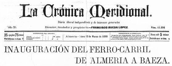 cabecera de la crónica de Almeria