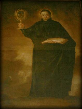 Cuadro de San Ignacio de Loyola donado por el Padre Diego Luís de Sanvítores a la parroquia de Cabra del Santo Cristo, hoy en la iglesia de los Sagrados Corazones de Granada. Archivo de Acacyr