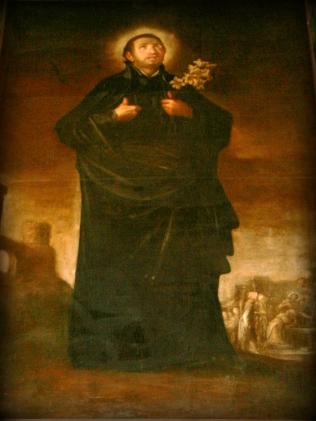 Cuadro de San Francisco Javier donado por el Padre Diego Luís de Sanvítores a la parroquia de Cabra del Santo Cristo, hoy en la iglesia de los Sagrados Corazones de Granada. Archivo de Acacyr
