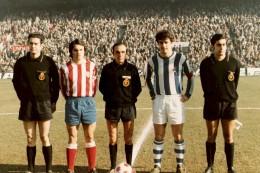 Estadio Vicente Calderón Atlético Madrileño- Real Sociedad 1971. Fuente: Juan A. Díaz en Revista Contraluz.